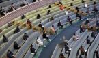 사랑의교회가 24일 예배당 좌석 수의 10% 인원에서 대면예배를 드렸다.