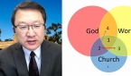 옥성득 교수가 '코로나19 이후 한국교회의 전망'에 대해 발표하고 있다.