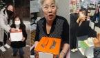 '행복 드림 케이크'를 선물받은 지역주민들.