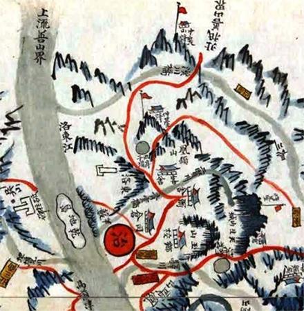 1871년 인동읍지 지도