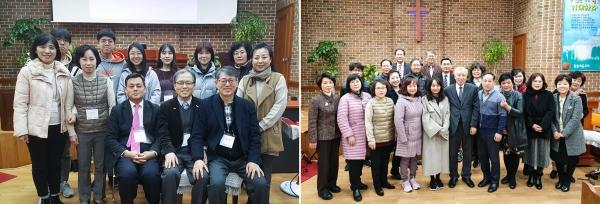 지난 2019년 소리 내어 성경 읽기 세미나 참석자 단체사진.