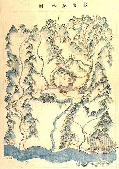 밀양부 지도