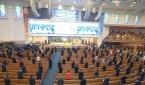 부활절인 4일 오후 서울 사랑의교회에서 '2021 한국교회 부활절 연합예배'가 드려지고 있다.