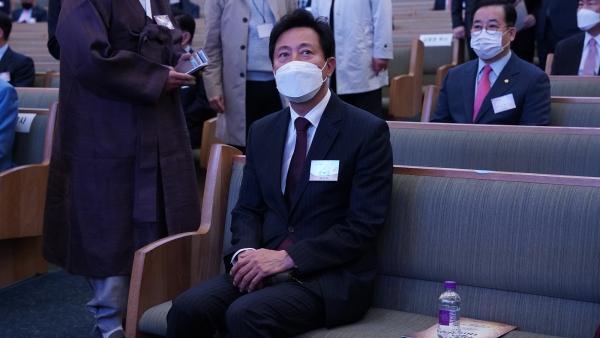 서울시장 보궐선거 후보인 국민의힘 오세훈 후보
