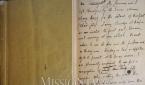 1899년 피터스가 기록한 제주 방문기 친필 영인본 표지와 내부. 피터스의 제주 방문기는 1899년 4월 13일 자로 발행된 『리포지터리』에 실렸다.