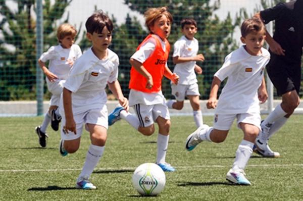 레알 마드리드 아카데미에서 훈련 받고 있는 학생들.