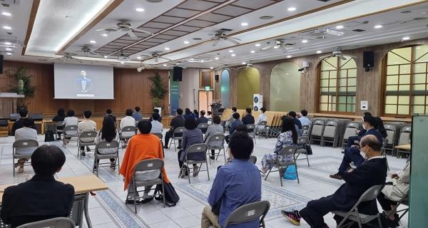 지난 30일 UBF 종로지부에서 세계선교보고대회에 참여하고 있다.