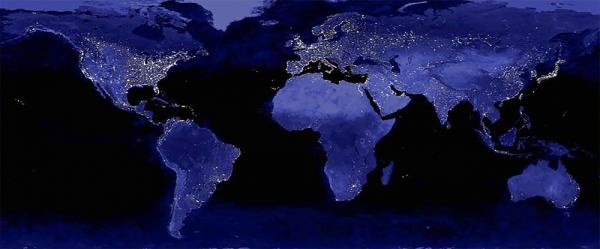 전 세계 야간 위성사진