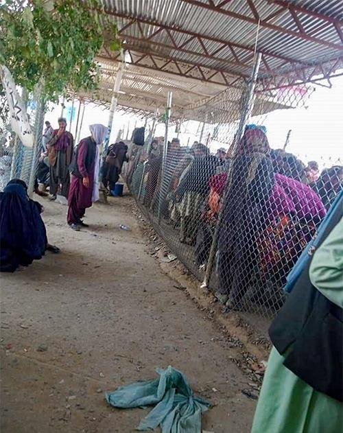 파키스탄의 난민 캠프 모습